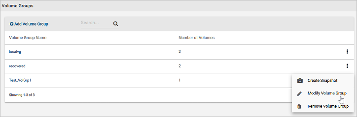 Modifying a volume group