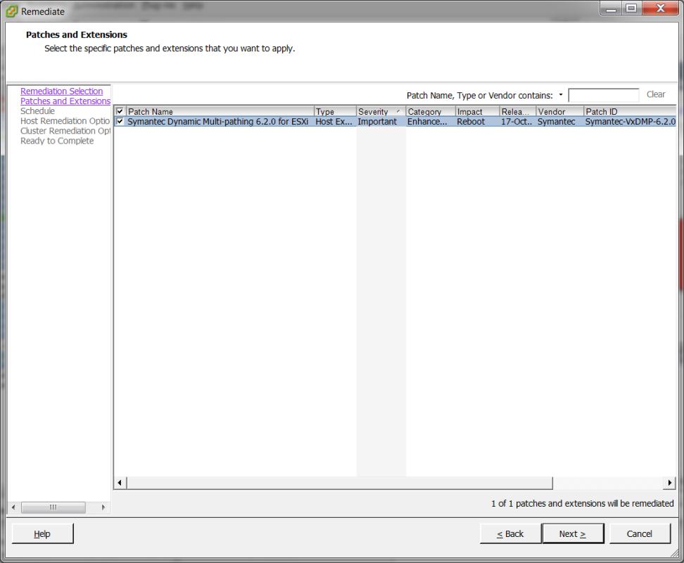 Installing the VxDMP offline bundle using VMware vSphere
