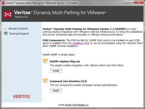 Installing VxDMP Console on a Windows-based system