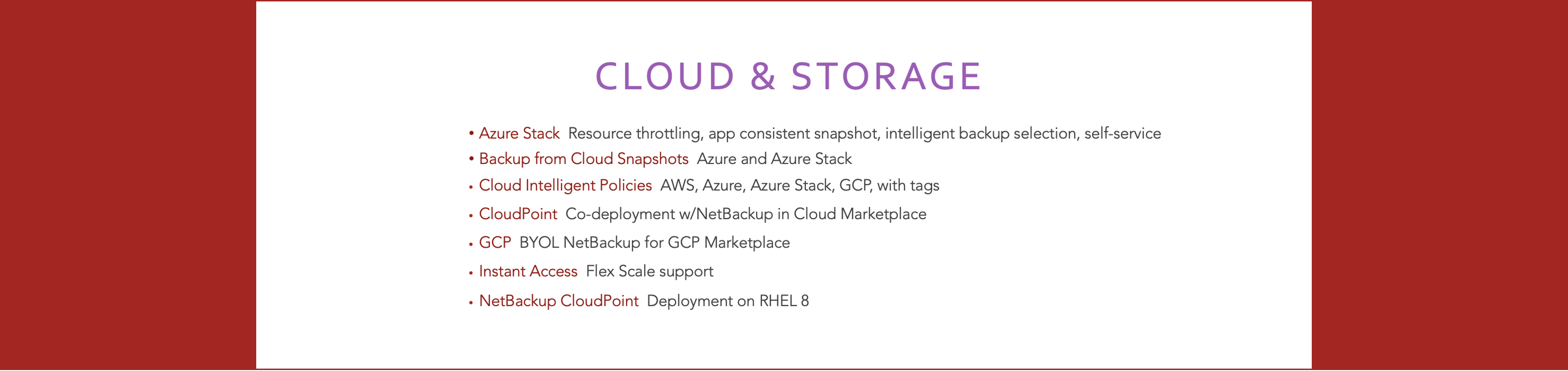 Feature 2 - Cloud & Storage