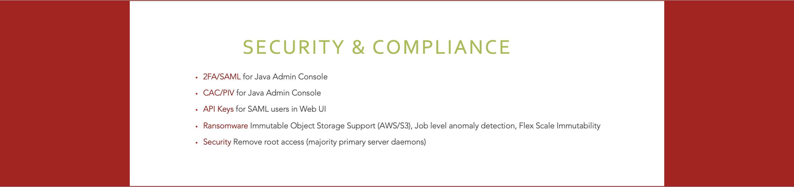 Feature 4 - Security & Compliance